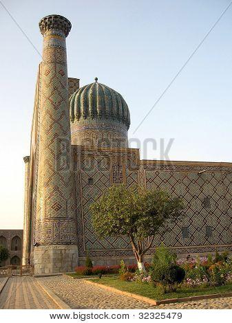 Samarkand Registan Sher-dor Madrasah At Sunset 2007