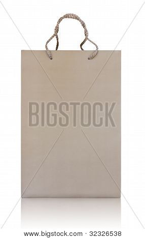 Shopping bag made from brown recycled paper