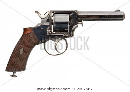A mid-nineteenth century British Officer's Revolver.