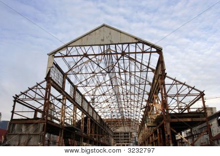Uncovered Hangar Frame
