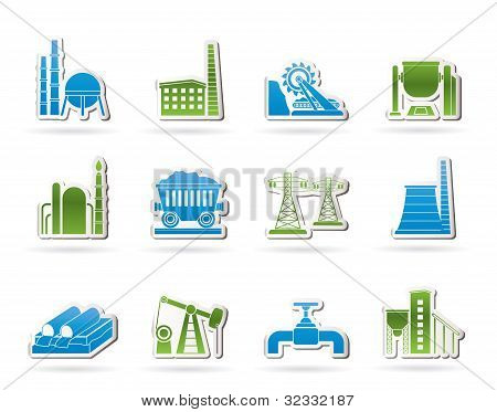 Heavy industry icons