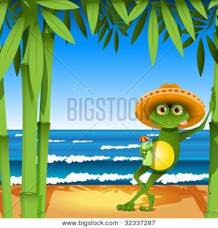 Frog On The Beach