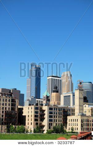 Beautiful Skyline Of Minneapolis