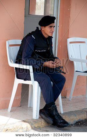 Jordan 11 April 2012  Policeman