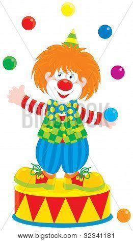 Circus clown juggler