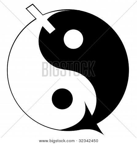 Ying yang symbol of harmony and balance.