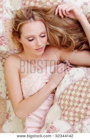 Sleeping Girl In Nightgown