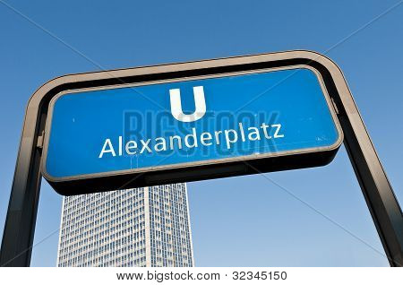 Alexanderplatz U-bahn Station At Berlin, Germany