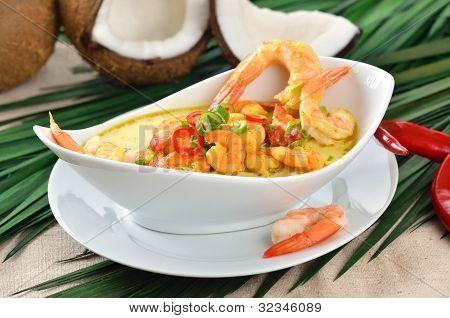 Shrimps soup
