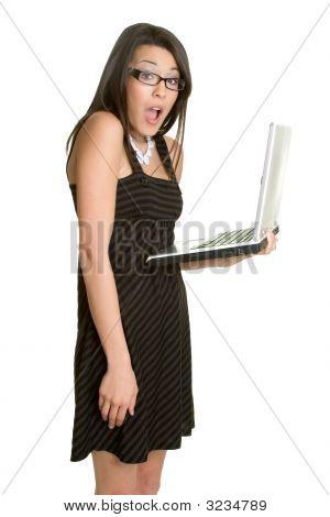 Beautiful Laptop Lady