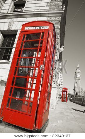 Big Ben And Red Telephone Booth