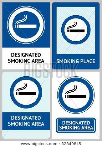 Label set Smoking area