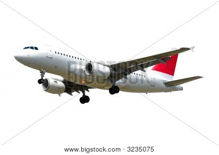 Plane Isolated On White Background
