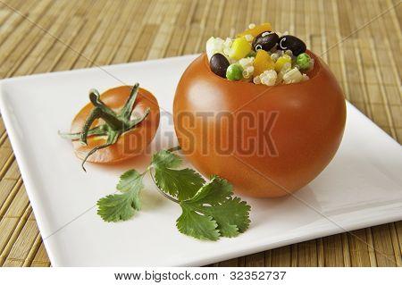 Quinoa Stuffed Tomato Appetizer