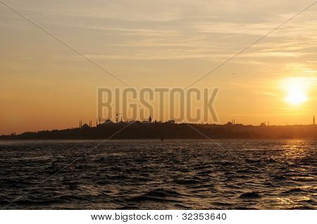 Sunset Over Golden Horn, Istanbul