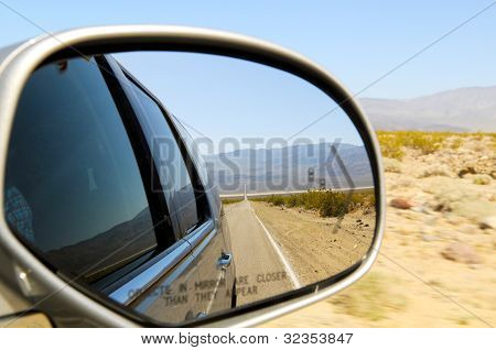 Straight Road In Reflection