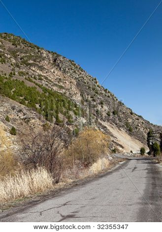 The road into the mountains. Kyrgyzstan. Ala-Archa.