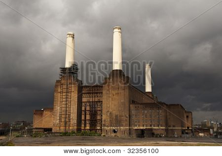 Battersea power station en Londres, Inglaterra, Reino Unido