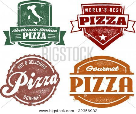 Vintage Style Pizza Graphics