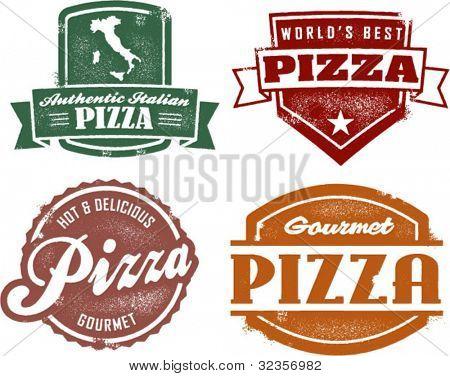 Vintage Style Pizza Graphics