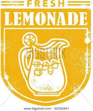 Vintage Lemonade Stamp