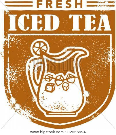 Vintage Iced Tea Stamp Graphic
