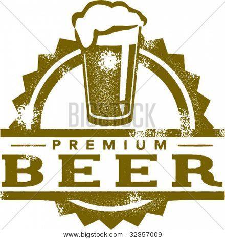 Premium Beer Vintage Style Stamp