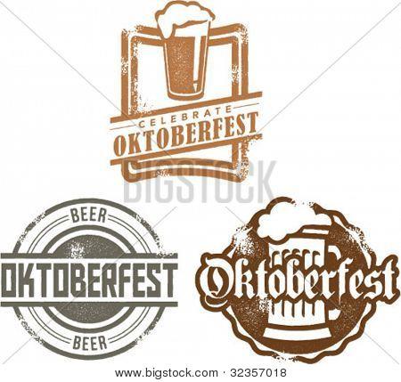 Vintage-Stil Oktoberfest Bier Festival Graphics