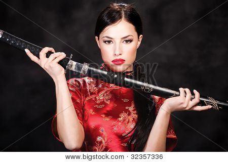 Woman And Katana/sword