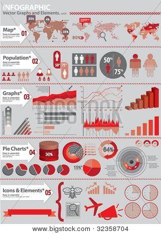 conjunto de infografía