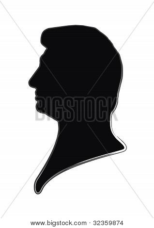 silhouette of a man on a white background