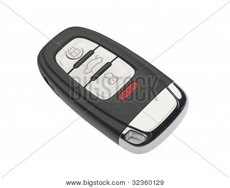 Car key, isolated