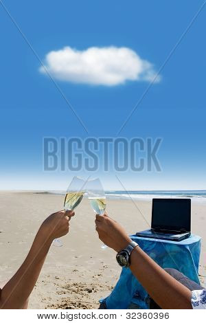 Cloud Computing: Celebration At Beach
