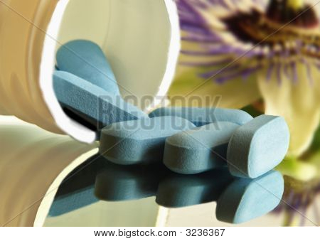Blue Tablets Reflection