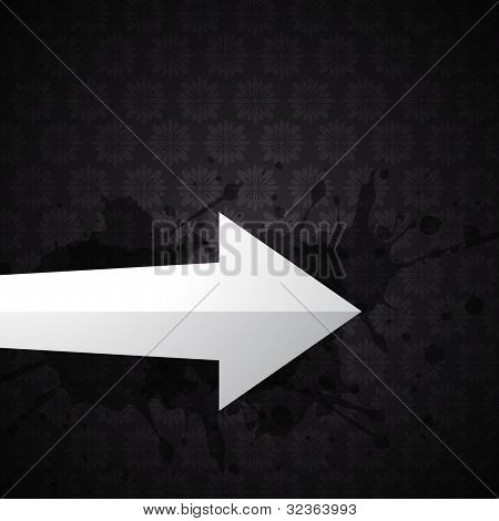 vector arrow on dark background