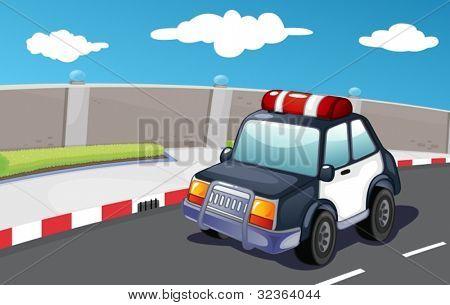 Polizei-Fahrzeug auf der Straße