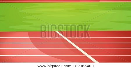 Illustration of a running track