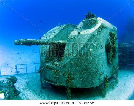 Guns On A Sunken Destroyer