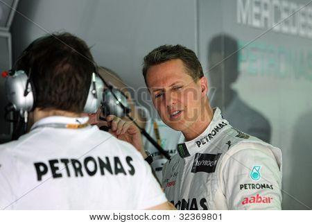 F1 driver Michael Schumacher