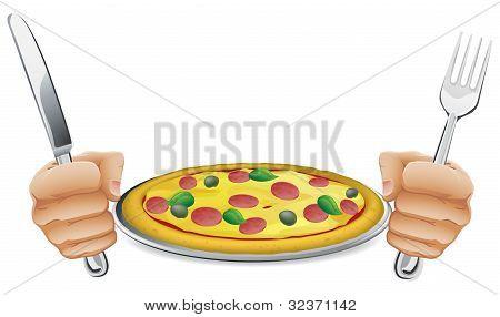 Hambriento de Pizza