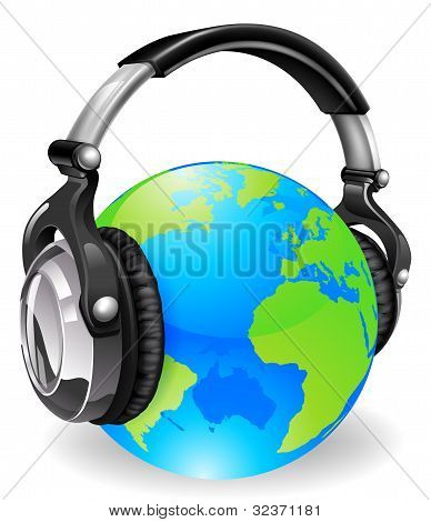 World Globe Music Headphones