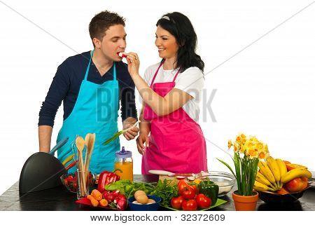 Par en la cocina
