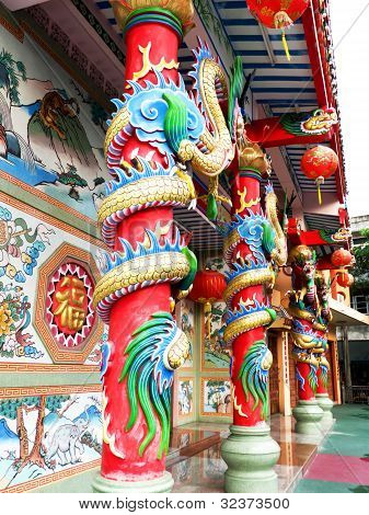 Ancient art Chinese temple