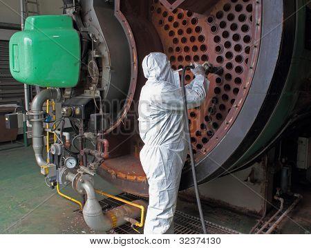 Caldeira de vapor industrial limpa