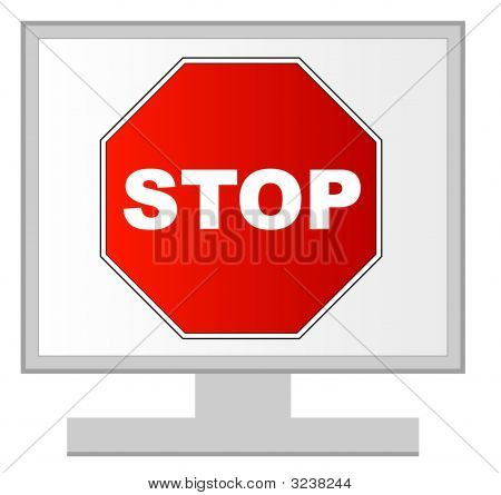 Monitor With Stop
