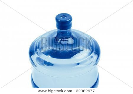 top of bottle with water for delivery, isolated on white