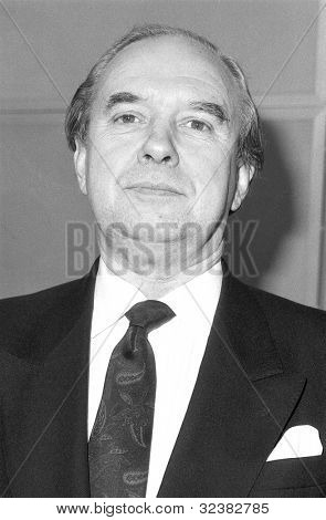 LONDON - DECEMBER 12: Tony Hennessy, Conservative party Parliamentary Candidate for Hammersmith, attends a photo call on December 12, 1990 in London.