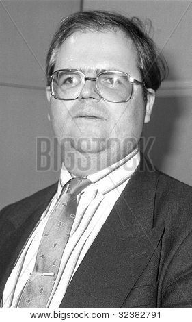 LONDON - DECEMBER 12: Andrew McHallam, Conservative party Parliamentary Candidate for Holborn and St.Pancras, attends a photo call on December 12, 1990 in London.