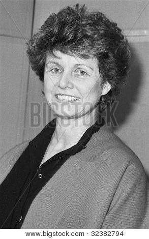 LONDON - DECEMBER 12: Alison McNair, Conservative party Parliamentary Candidate for Greenwich, attends a photo call on December 12, 1990 in London.