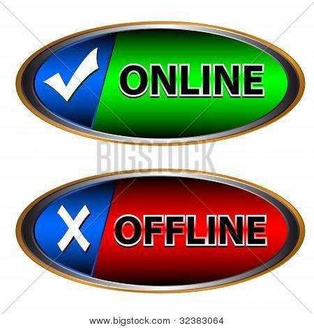 Icono online y Offline